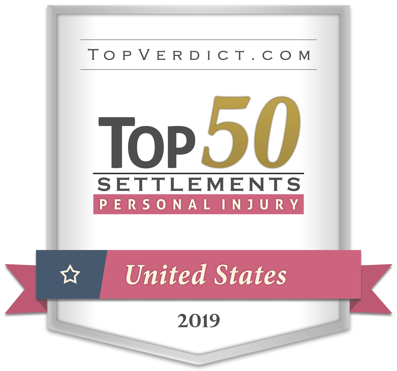 Topverdict.com, top 50 settlements for personal injury 2019